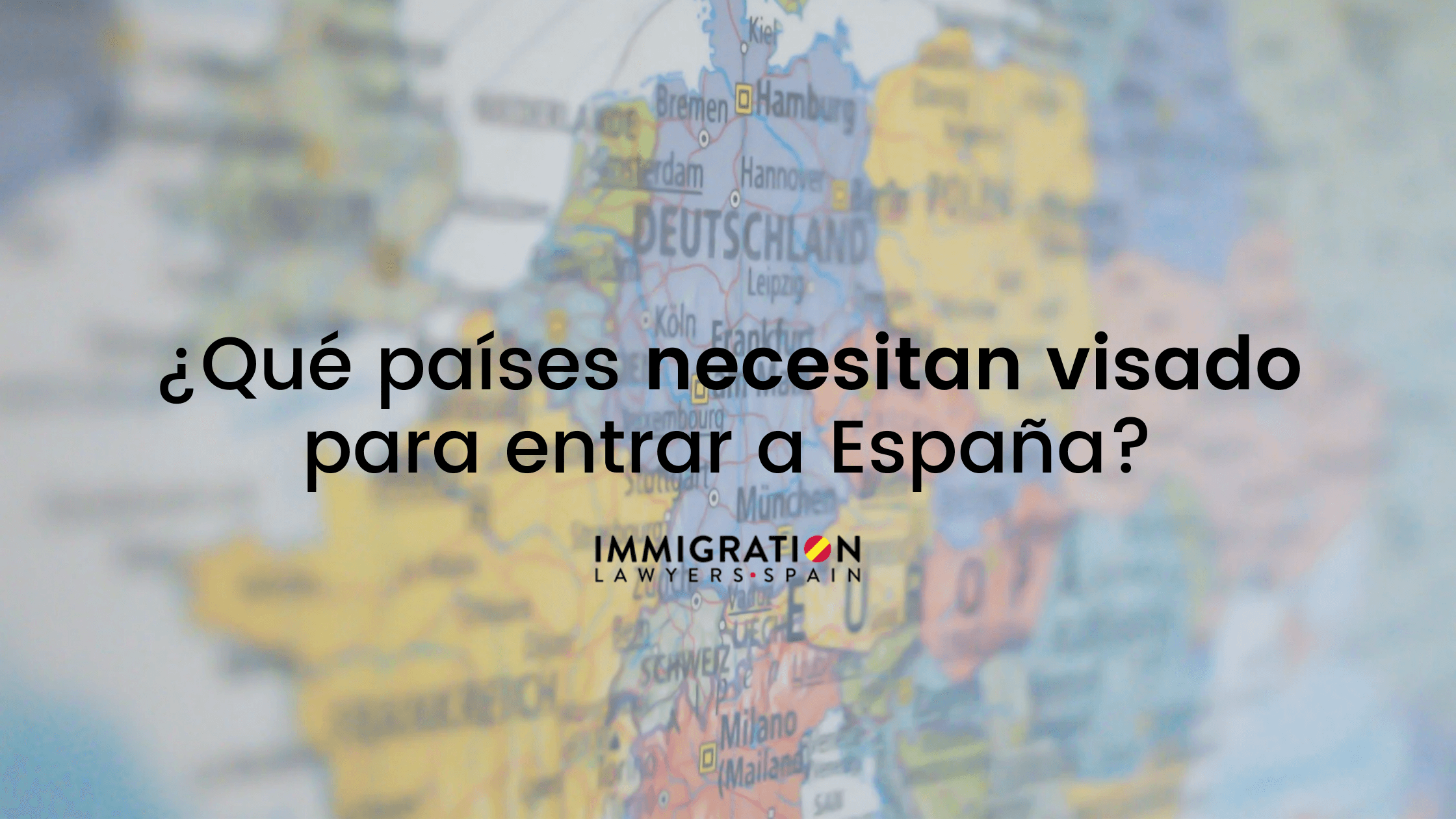 Quels pays n'ont pas besoin de visapour venir en Espagne ?